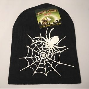 NEW Funny Bones GLO In The DARK KIDS KNITTED HAT